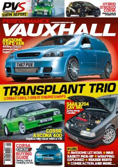 Performance Vauxhall - August - September 2015