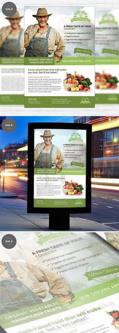 Flyer Psd Template - Farmer Flyer Business