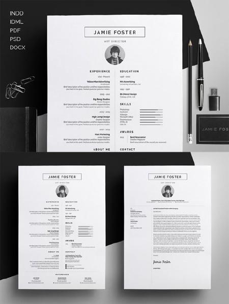 Resume/CV - Jamie - Creativemarket 275131