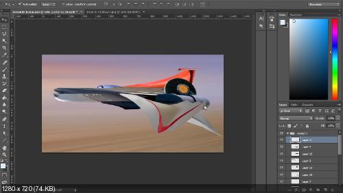 Digital Tutors – Создание концепции Sci-Fi истребителя в Photoshop